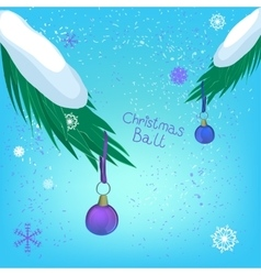 Christmas ball branch vector