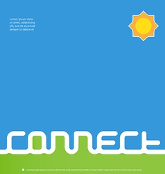 Connect - design template for book or CD cover vector image vector image