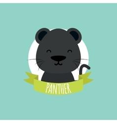 Cute cartoon panther vector