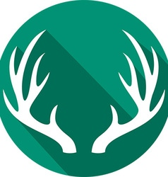 Deer horn icon vector