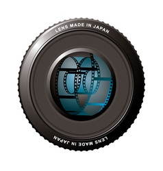 digital camera lens vector image