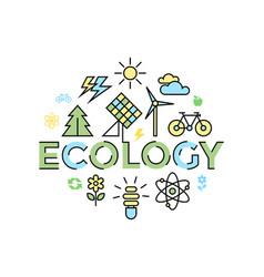Digital yellow blue ecology vector
