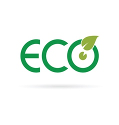 eco sign color vector image vector image