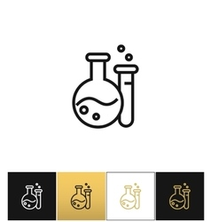 Flask and beaker equipment lab icon vector image vector image