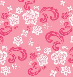 floral stitched design vector image