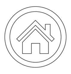 House pictogram inside circle icon vector
