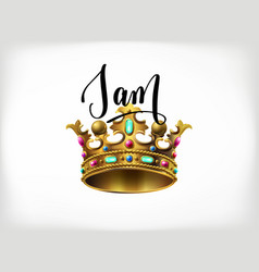 I am the king handwritten lettering poster vector