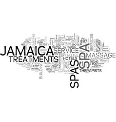 Jamaica spas text background word cloud concept vector