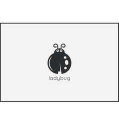 Ladybug animal logo design background vector