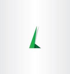 letter l green logo element symbol design vector image vector image