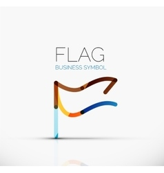 Logo flag abstract linear geometric business icon vector image