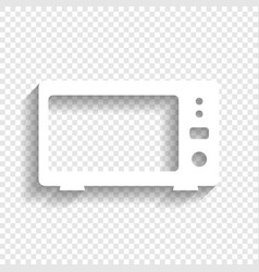 Microwave sign white icon vector
