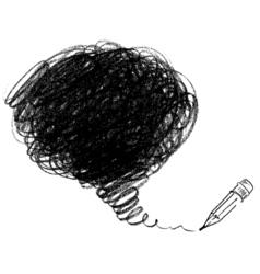 Pencil drawing vector image