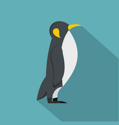 penguin icon flat style vector image