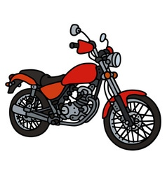 Red light motorcycle vector image vector image