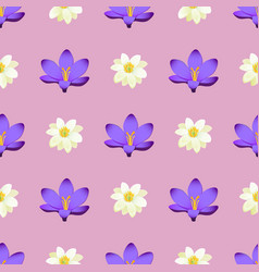 Seamless pattern with sakura blossom isolated vector