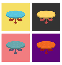 Set of poker table flat vector
