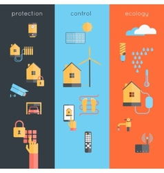 Smart Home Banner vector image
