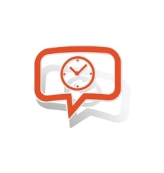 Time message sticker orange vector