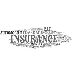 Your car insurance text background word cloud vector