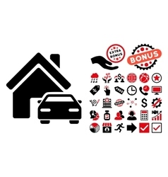 Property flat icon with bonus vector