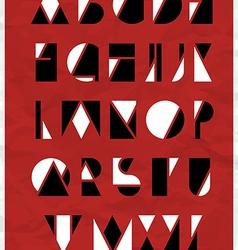 Alphabet geometric shapes vector