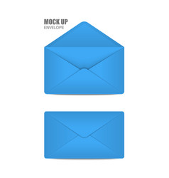 blue open envelope vector image