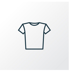 T-shirt outline symbol premium quality isolated vector