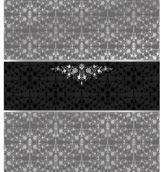Floral seamless silver background vector