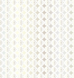 Silver snowflake pattern vector