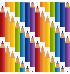 Colored rainbow pencils seamless pattern vector