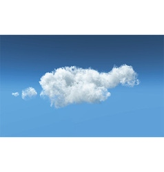 Fluffy white cloud background 1405 vector