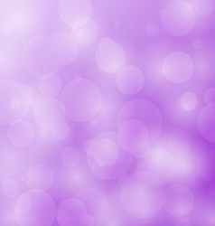 Abstract bokeh circles design on violet background vector image vector image