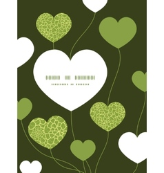 Abstract green natural texture heart symbol vector