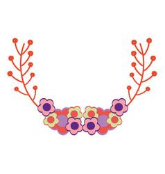 Beutiful flowers decoration design vector