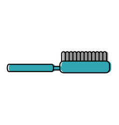 Brush pet accessory clean icon vector