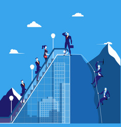 business people climbing vector image