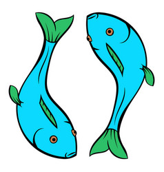 Carp icon cartoon vector