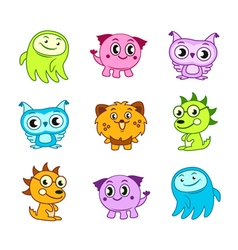 Cartoon funny monster kids vector image vector image