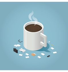 Coffee time at work 2 vector image vector image