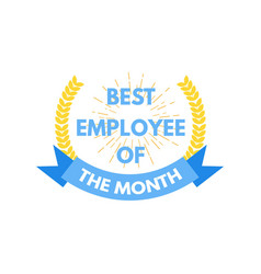 Employee of the month label vector