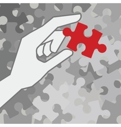 Final piece of puzzle vector