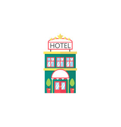 Hotel flat icon travel tourism vector