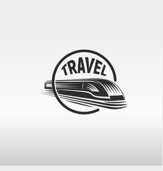 isolated monochrome modern gravure style train in vector image vector image