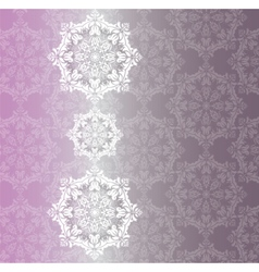 Lace snowflakes ornament pattern vector image vector image