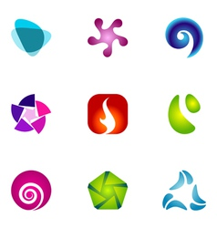 logo design elements set 59 vector image