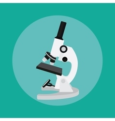 microscope isolated tools chemistry technology vector image