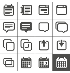 Notes memos and plans icons vector image vector image