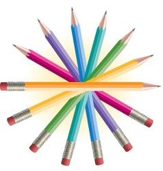 Pencils Spiral vector image vector image