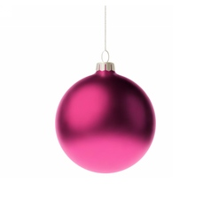 Pink 3d christmas bauble vector
